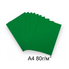 Бумага А4 80г/м2 темно-зеленая,1 лист /114511