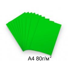 Бумага А4 80г/м2 зеленая (интенсивный),1 лист /114521