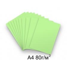 Бумага А4 80г/м2 зеленая (пастельный),1 лист /114531