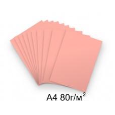 Бумага А4 80г/м2 розовая,1 лист /114621