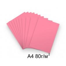 Бумага А4 80г/м2 розовая (неон),1 лист /114691