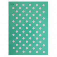 "Трафарет - ""Горошек (диаметр 8 мм)"", 14,5х19 см /074/ 115074"