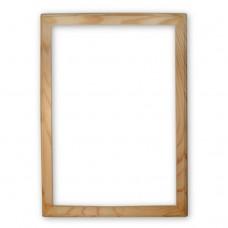 Деревянная рамка А4. Внутренний размер - 210x297 мм. Ширина профиля - 20 мм.