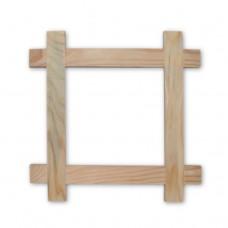 Деревянная рамка. Внутренний размер - 170x170 мм. Ширина профиля - 30 мм.